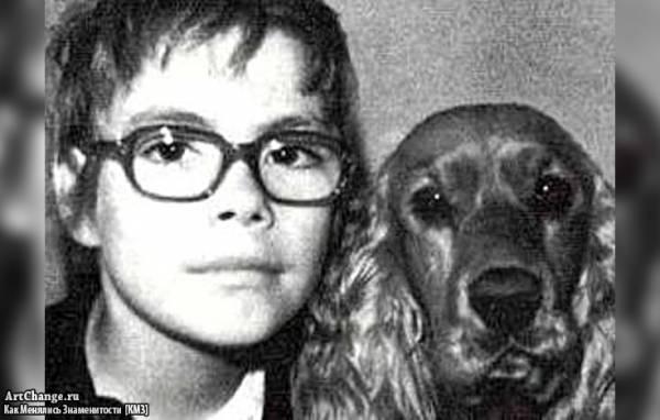 Жан-Клод Ван Дамм в детстве, юности с собакой