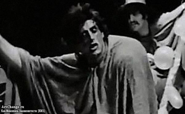 Молодой Сильвестр Сталлоне на сцене театра