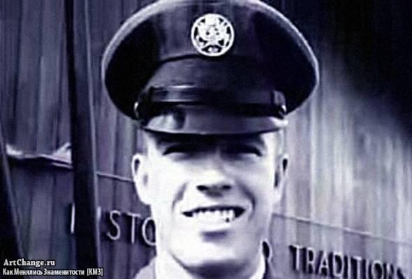 Чак Норрис в молодости в военной форме