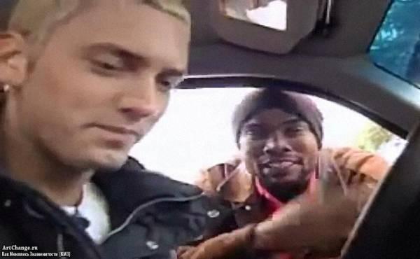 Дешон Холтон (Proof) и Eminem фристайлят в машине