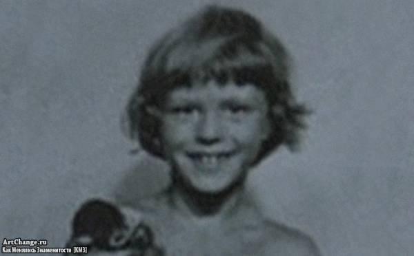Джейсон Стэйтем в детстве с волосами