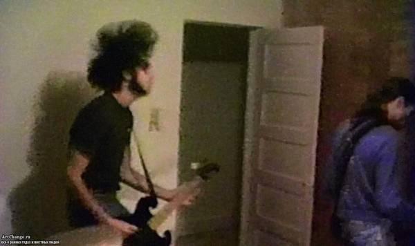 Nirvana на одной из первых своих репетиций
