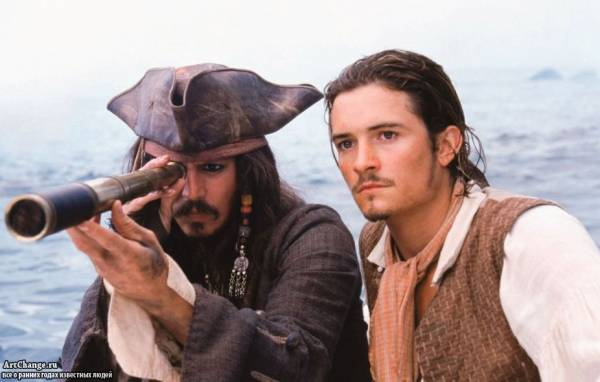 Джонни Депп в роли капитана Джека Воробья в Пиратах Карибского моря