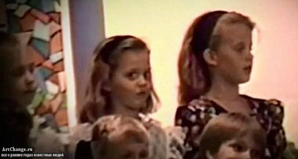 Кэти Перри в детстве на выступление в хоре