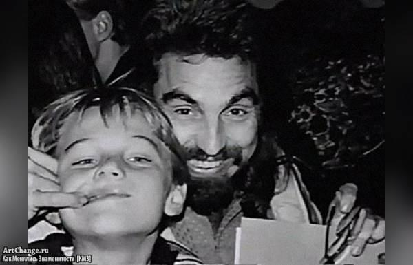 Леонардо ДиКаприо в детстве с отцом Джорджем