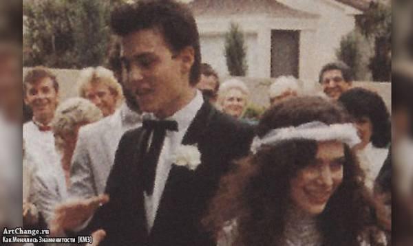 Свадьба Джонни Деппа и Лори Энн Эллисон в 1983 году