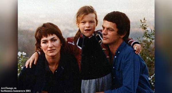 Милла Йовович в детстве с родителями - отцом Боги и матерью Галиной