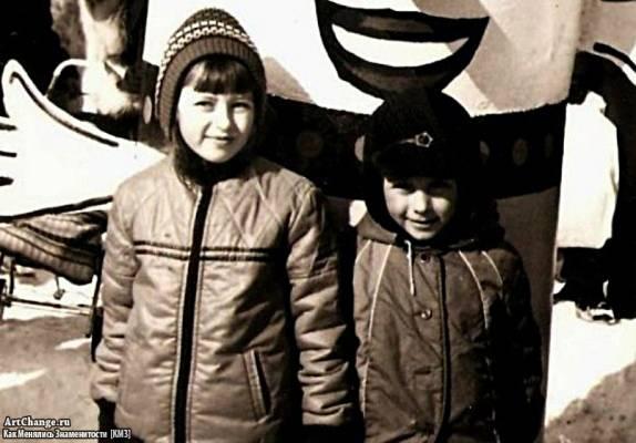 Дима Билан в детстве с старшей сестрой Еленой