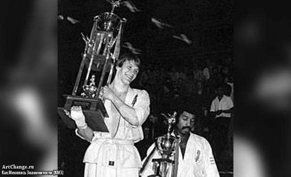 Молодой Дольф Лундгрен на турнире по карате, 1980 год