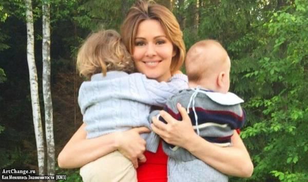 Мария Кожевникова с детьми Иваном и Максимом