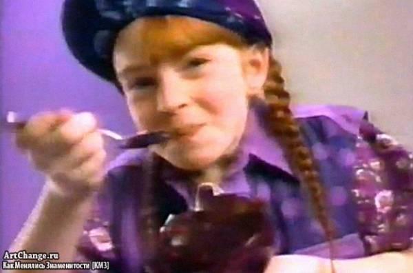 Линдси Лохан в детстве в рекламе желе (1995)