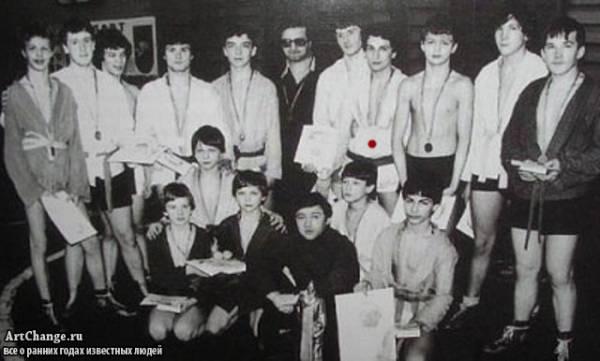 Дмитрий Нагиев в юности на самбо