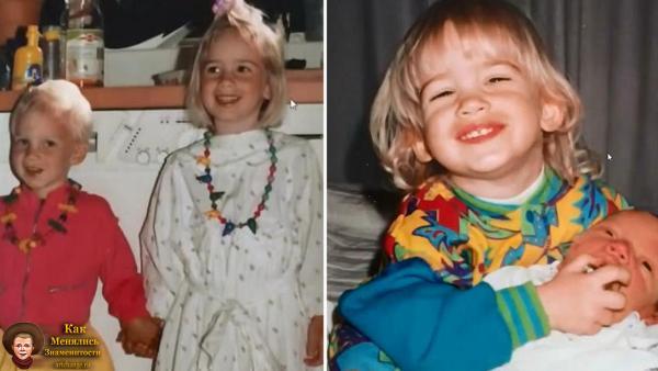 Феликс Чельберг (ПьюДиПай-PewDiePie) в раннем детстве с сестрой