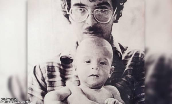 Иван Ургант в детстве с отцом Андреем Ургантом