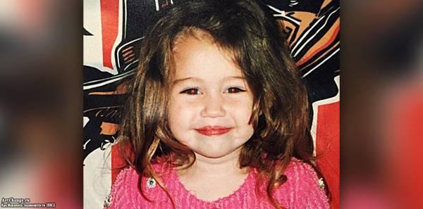 Майли Сайрус в детстве