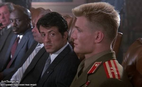 Рокки 4 (1985), в ролях Дольф Лундгрен