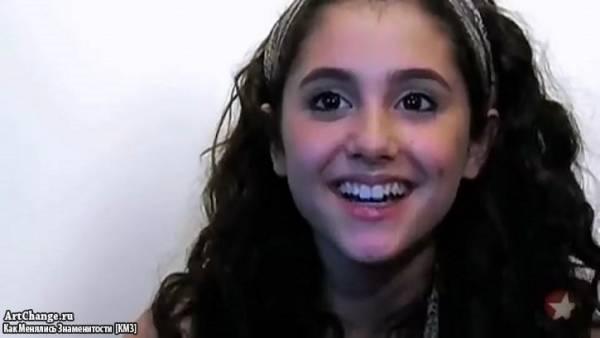 Ариана Гранде на записи песен для бродвейского мюзикла 13 (2008)