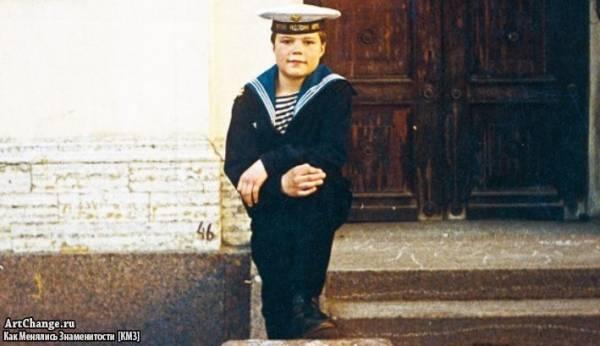 Данила Козловский в детстве в кадетском корпусе (1992)