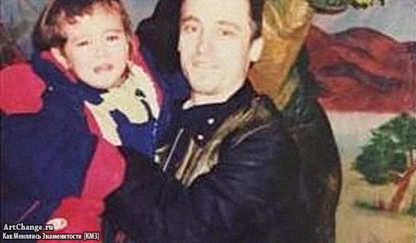 Милена Чижова в детстве с отцом