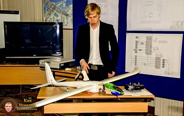 Молодой Стас Давыдов в институте авиации