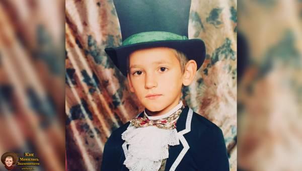 Паша Микус в детстве, юности (в школе, 2ой класс)