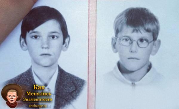 Паша Микус в детстве, юности с младшим братом