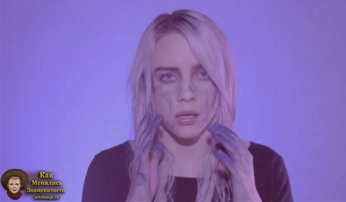 Billie Eilish (Билли Эйлиш) во время съемок в клипе Ocean Eyes (2016)