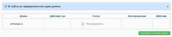 регистрация домена artchange.ru